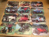 Vintage car table mats