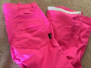 HOT PINK snowboard pants-SMALL