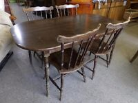 20% OFF ALL ITEMS SALE - Dining Table With 4 Oak Chairs - Can Deliver For £19