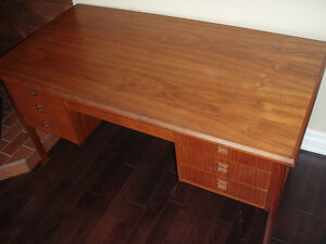 Mid century teak desk from Scandinavia.