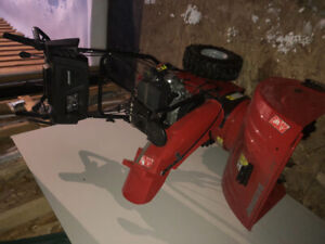 """24"""" jonswered red snowblower mint condition"""