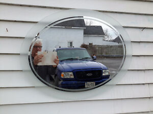 MODERN RETRO LOOK OVAL MIRROR ONLY $27.00