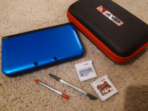 3 DS with two Mario games