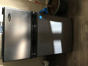 Less than 1 year old stainless steel bar fridge for sale