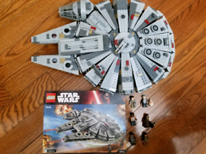 Lego Star Wars Millennium Falcon 75104 with figures .