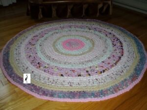 Hand Made Rugs - Crochet & braided - Asstd. colors, sizes, price