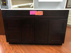 Clearance!! Extra 10% OFF Espresso solid wood vanity!!