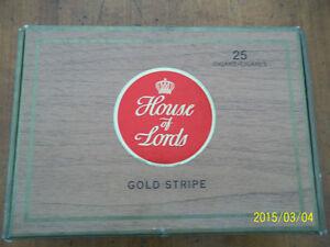 Vieilles boîtes de cigares: Granola, House of Lords  $ 35 chaque