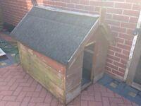 Large fully dog kennel