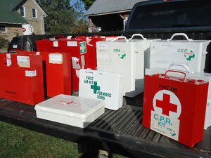 First Aid Kits Large Medium and Small metal cabinets