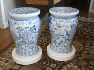 2 Porcelain seats/stands.19 inches tall