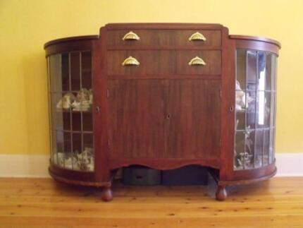 Antique Leadlight Cabinet Modbury North Tea Tree Gully Area Preview