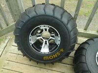 2 atv winter tires on rims