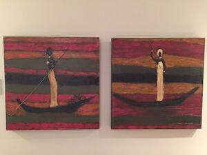 Two Paintings - textured, rich colours. Regina Regina Area image 2