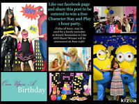 Win a FREE Birthday Party for your child!