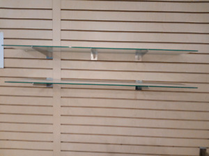 """Glass Shelves 3/16 & 3/8"""" thick in very good condition"""