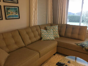 Lincoln Sectional with Corner Chaise - $1850.00  (White Rock)