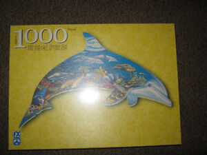 New 1000 piece Shaped puzzel (Dolphin Dreams) St. John's Newfoundland image 1