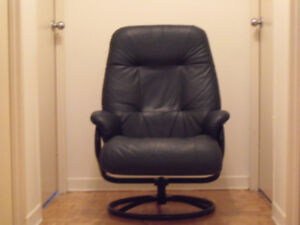 Lounge chair, swivel and recline.