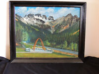 Canadian artist R.H.Mann oil painting