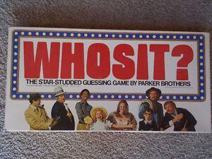 VINTAGE-- Whosit? Board Game-1977