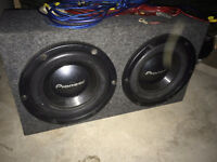 Sub-woofer Set: Amp, Deck, Cap, Wires