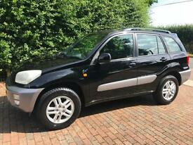 TOYOTA RAV 4 GX AUTOMATIC 5 DOOR IN BLACK WITH AIR CONDITIONING ISO FIX SEATS