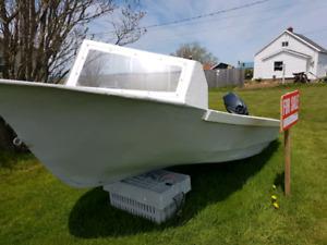 15x5.5 fibreglass skiff
