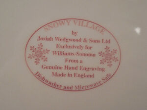 XLarge Christmas Plate Charger Serving Platter Tray Wedgwood RED Kitchener / Waterloo Kitchener Area image 4