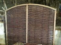 1 New Framed willow fence hurdle 6ft wide x 6ft high approx