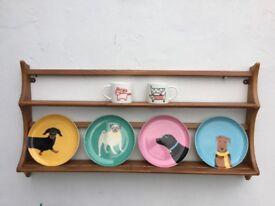 Vintage Ercol shelf shelves wall