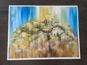 Peinture Acrylique Les pleurs du saule
