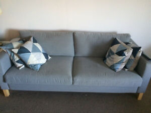 Grey Ikea Karlstad sofa