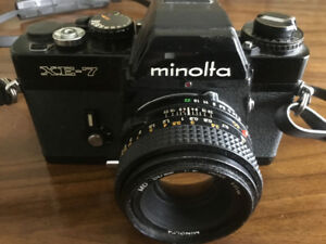 Minolta XE-7 professional film camera