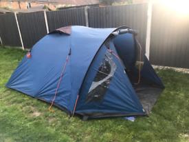 Trespass 4 man dome tent with 2x windbreaker & double sleeping bag