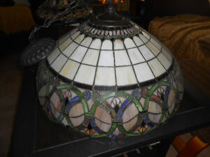 Hanging Tiffany stained glass lamp