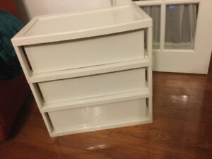 wide 3 tier plastic drawers