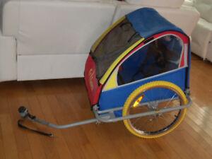 Remorque double a vélo