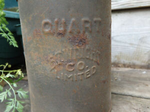 QUART CAN FROM E.T. WRIGHT CO, HAMILTON, ON (OIL CAN/RAILWAY?) Peterborough Peterborough Area image 3