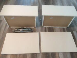 2 portes + 2 tiroirs Selsviken SANS MEUBLE blanc brillant besta