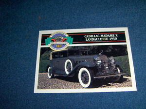 1909 FORD-1930 CADILLAC-2 PANINI TRADING CARDS-1991-VINTAGE!