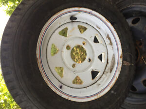 TRAILER TIRE AND RIM NEW5.3X12