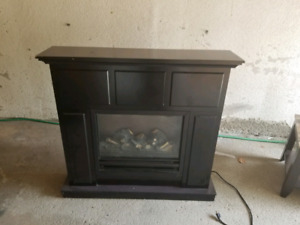 PLUG IN WOOD FIRE PLACE + DELIVERY