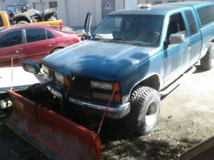 1992 CHEV WITH PLOW  TRADE FOR 4 WHEELER