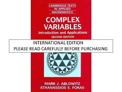 Complex Variables By Ablowitz