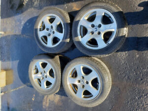 4 Used Honda Mags 15'' with 4 Summer Tires15''
