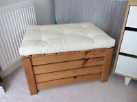 Ikea bedding/storage box with padded lid.