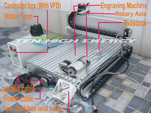 New 4 Axis CNC Router 6040 800W Spindle 1.5KW Controller Box ect London Ontario image 1