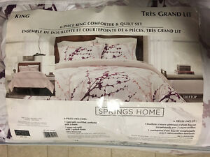 Brand New Home Springs King Size Comforter & Quilt Set