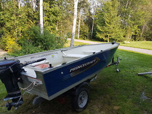 14' Prince Craft with 9.9 hp Evinrude